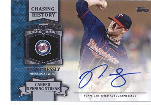 2013 Topps Update Chasing History Autographs #CHA-RP Ryan Pressly Twins MLB Baseball Card (Autographed) NM-MT