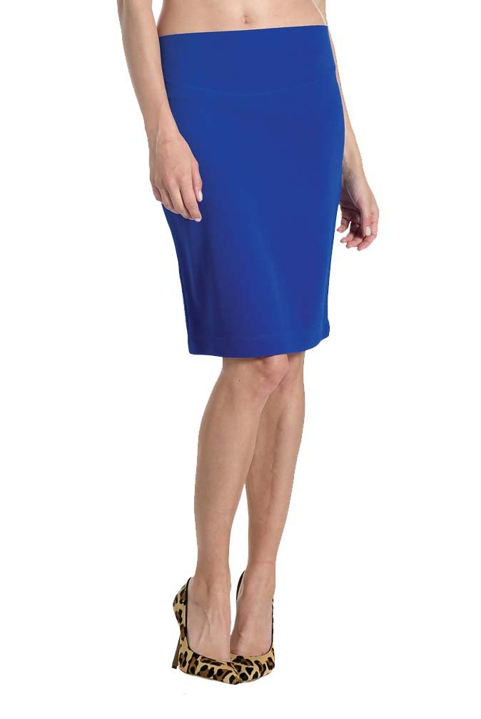 Lilac Pencil Maternity Skirt - Solid - Cobalt - Medium by Lilac (Image #6)