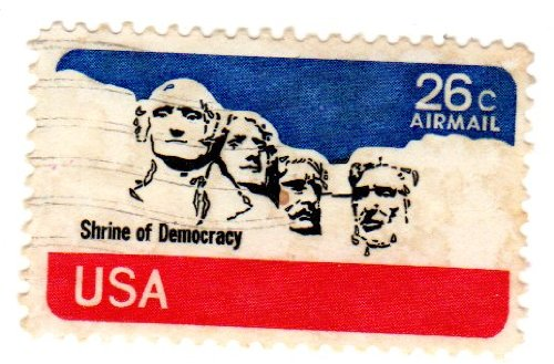 No. C88 Mount Rushmore 1974 Airmail Plate Block of 4 x 26 cents US Postage - Usps International Package