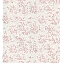 Brewster 403-49254 Maxine Toile Wallpaper, Pink