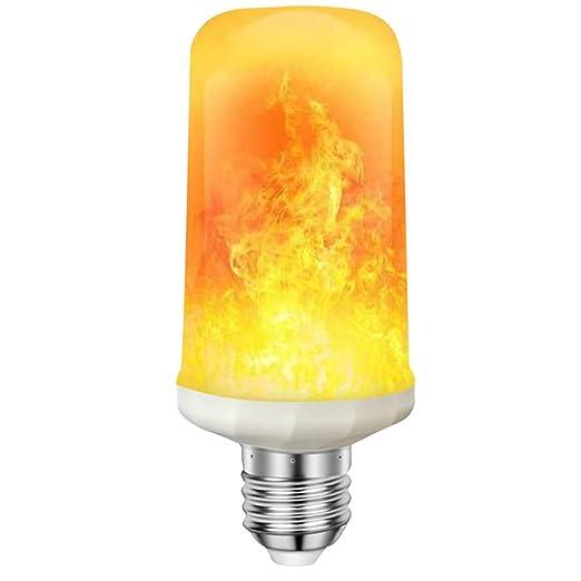 VIUME Llama Bombilla LED, Bombilla Llama Fuego, Llama Greative Lámpara, Efecto Parpadeante,