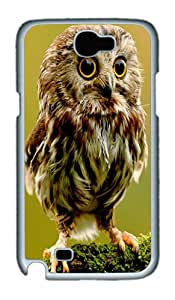 ICORER Snap on Samsung Galaxy Note 2 Case Baby Owl Cool Samsung Note 2 Cases PC White Case for Samsung Galaxy Note 2 /SIII /I9300