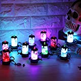 Fullfun 12 pcs Candle Lamp LED Tea Light Candles Halloween Decoration Party