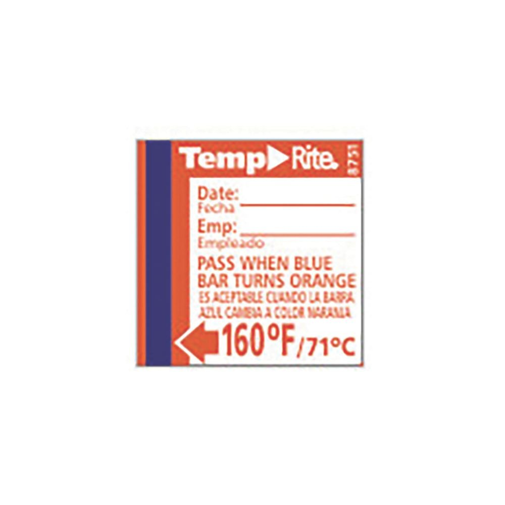 Taylor 8751 TempRite 160°F Dishwasher Test Labels - 24 / PK