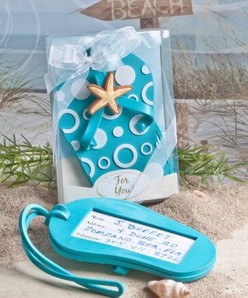 Flip flop luggage tag favors [SET OF 24]