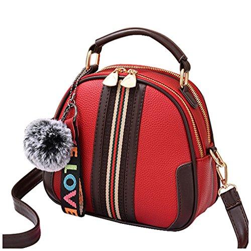 Top Crossbody Bag handle Bags Shoulder B Women Red Satchel Tibes Handbags Ladies fO0wq015