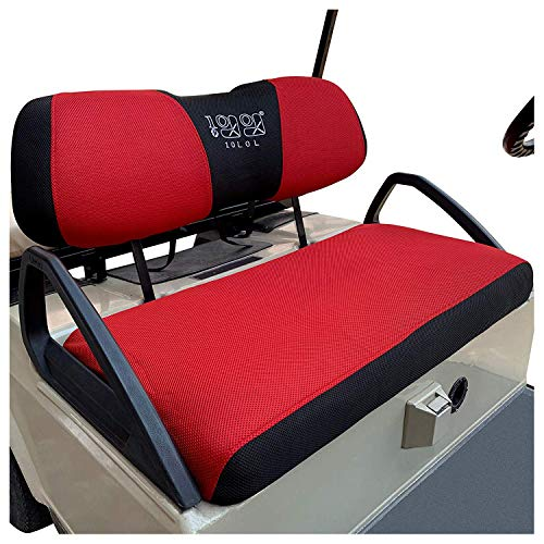 10L0L Golf Cart Bench Seat Cover Set, Washable Polyester Mesh Cloth Fits Club Car DS & Precedent, EZGO TXT & RXV, Yamaha Electric Golf Carts