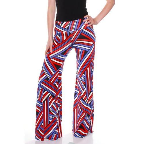 Hot Emmalise Women's Trendy Summer Spring Printed Wide Leg Palazzo Pants hot sale