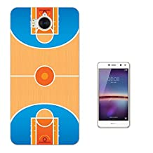 002735 - Basketball Arena floor Design Huawei Y6 (2017) Fashion Trend CASE Gel Rubber Silicone All Edges Protection Case Cover