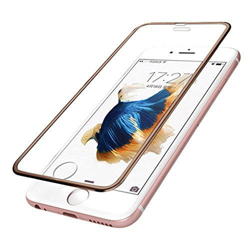 Aobiny For iphone 6 Plus Premium Screen Protector Tempered Glass Protective Film (Gold)