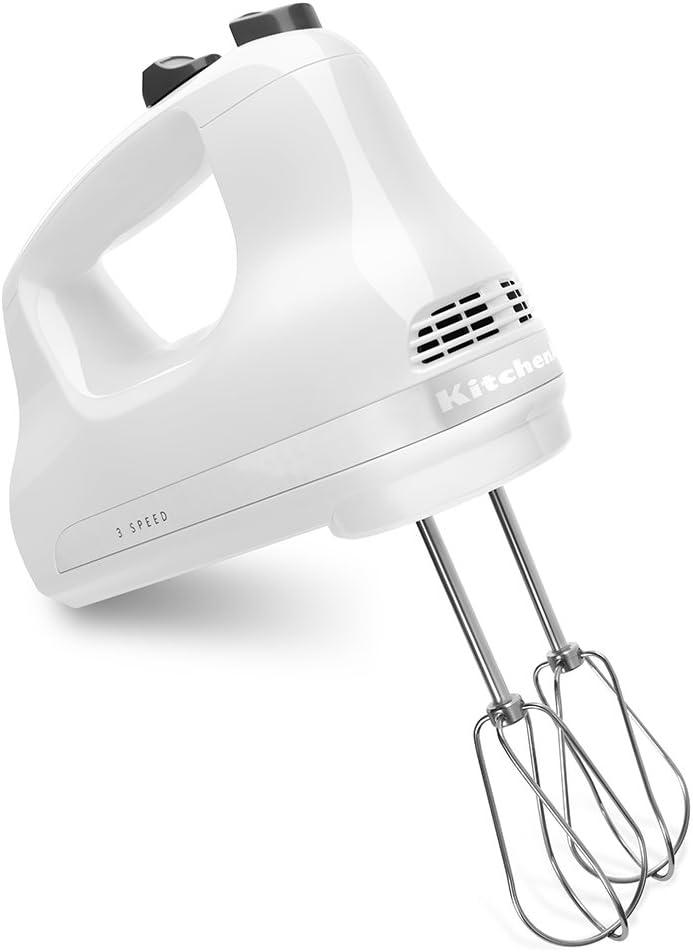 KitchenAid 3-Speed Hand Mixer - White