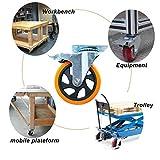 D&L 5 Inch Plate Casters Wheels 1800lbs Heavy Duty