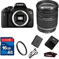 Canon T6I DSLR + 18-200mm IS Lens + 16GB Memory + UV Filter + Deluxe Value - International Version