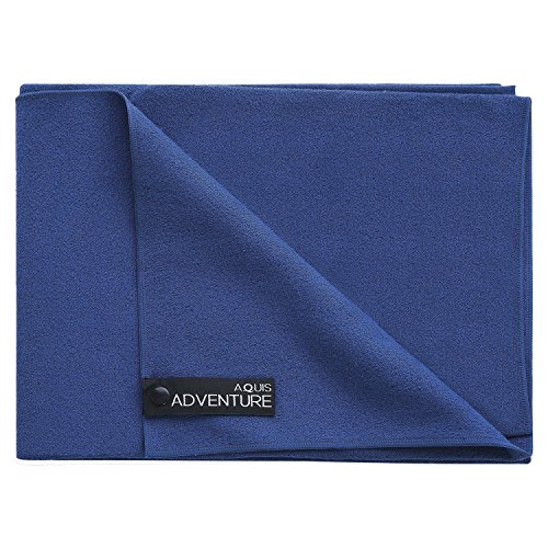 Aquis Adventure Microfiber Sports Towel, Blueberry
