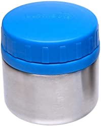 LunchBots Rounds Stainless Steel Food Container (8 oz) - Non-Insulated Leak-Proof Food Jar for Lunch, Yogurt, Snacks and Sides - Eco-Friendly, Dishwasher Safe and BPA-Free - Royal Blue