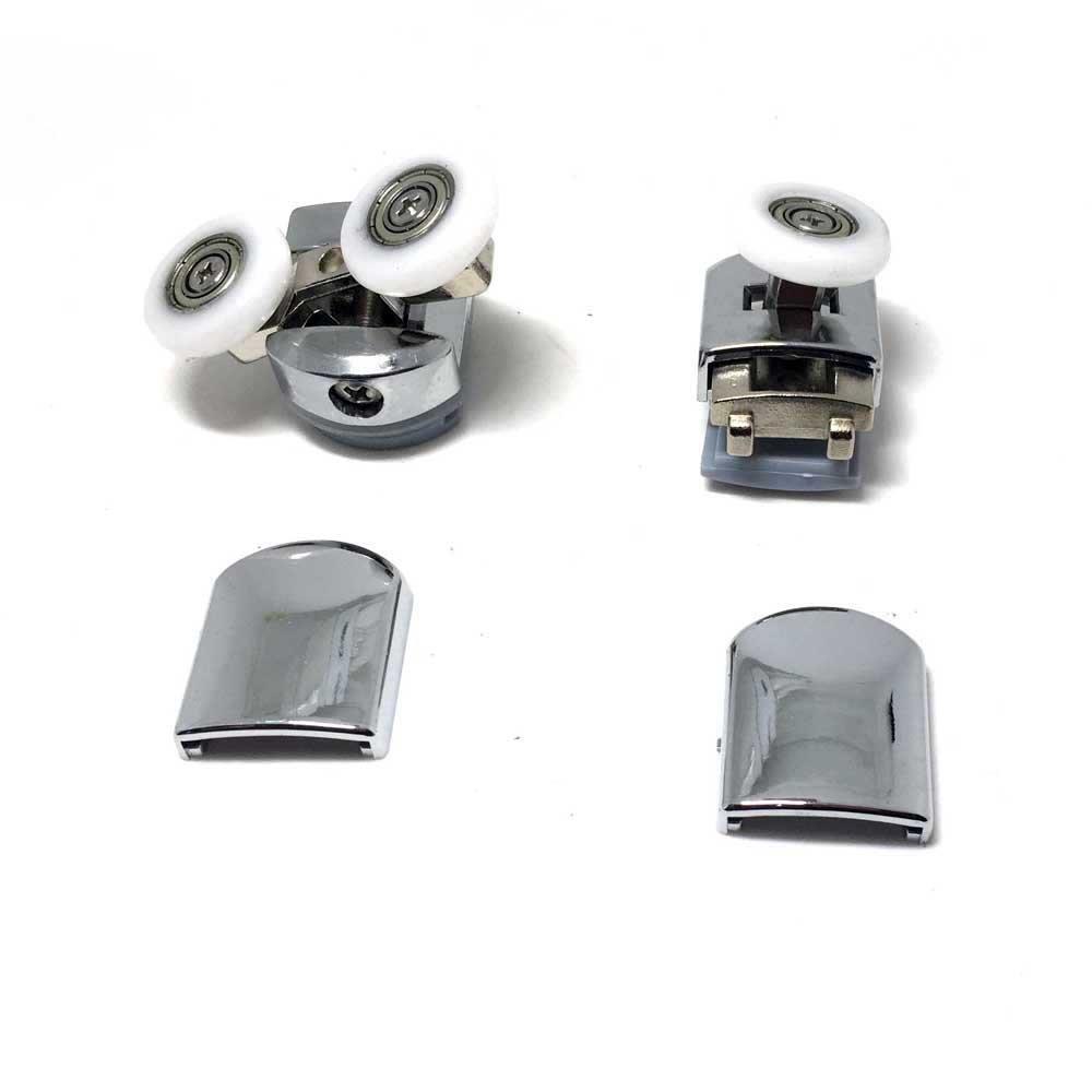 Set of 8 Shower Enclosure Door Zinc Alloy Rollers/Runners/Wheels (Roller diameter 25mm) CY-908AB-(20-27)MM