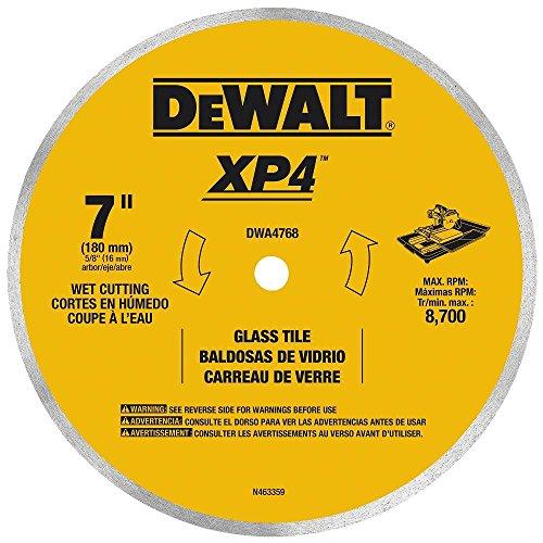 DEWALT DWA4768 Continuous Rim Glass Tile Blade, 7