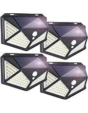 YESDEX Solar Lights Outdoor 100LED 4Pack Motion Sensor Lights, Waterproof Outdoor Wall Light