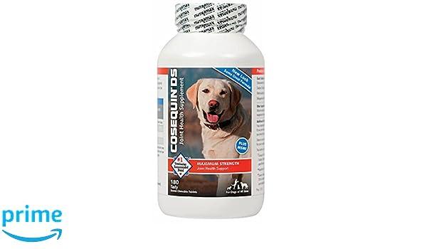 COSEQUIN Suplemento DS Plus Msm Salud común para los Perros 180 tabletas masticables: Amazon.es: Productos para mascotas