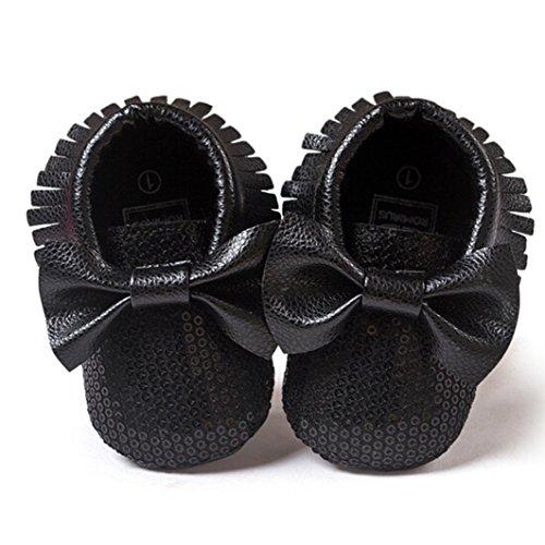 Clode® Kleinkind Baby Mädchen Quasten Bowknot Leder Schuhe Weiche Sohlen Krippe Schuhe Prinzessin Schuhe