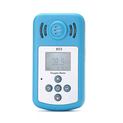 Amazon.com: Jingrui Mini LCD Digital Oxygen Tester O2 Concentration Detector Analyzer Temperature Meter with Sound Light Alarm: Home Improvement