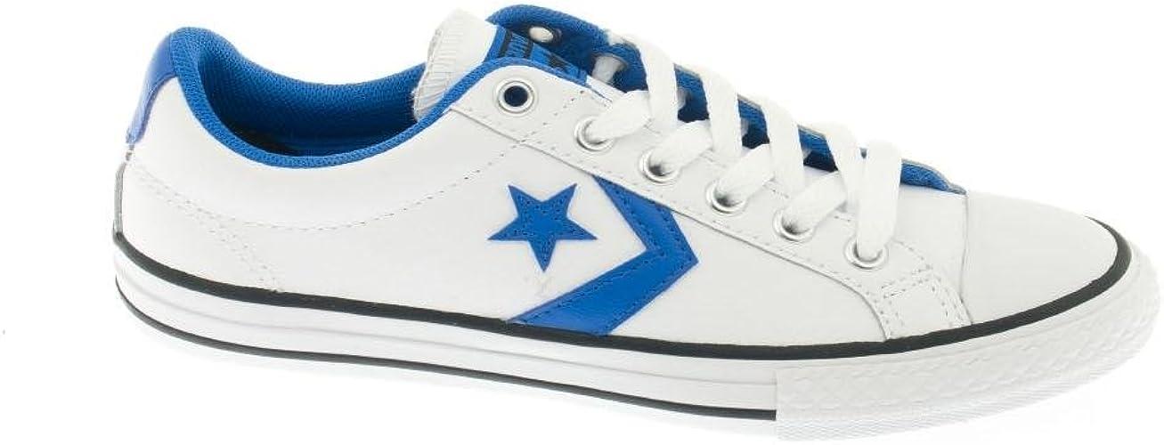 Converse Star Player chaussures en cuir Blanc / Bl: Amazon ...