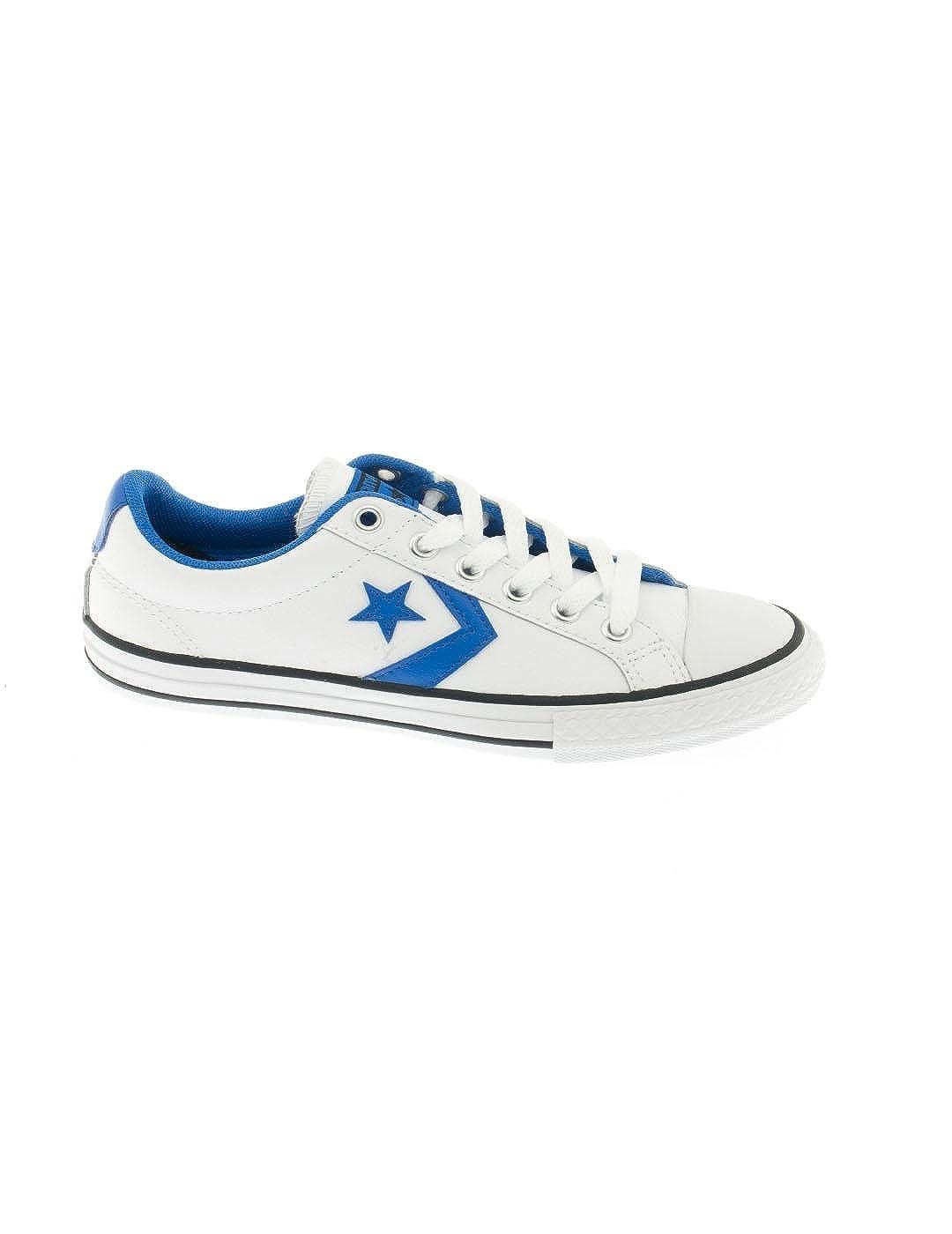 Zapatilla Converse Star Player Leather Blanca/Azul: Amazon.es: Zapatos y complementos