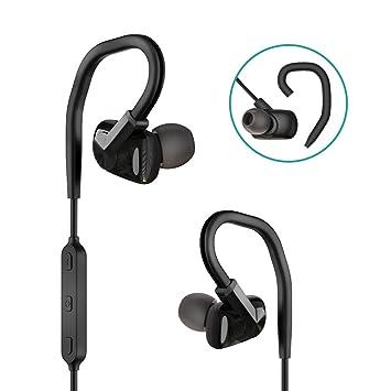 GIARIDE Auriculares Bluetooth inalámbricos Deportivos, Ganchos de Orejas Desmontables intrauditivos con micrófono Resistente al Sudor Impermeable para ...