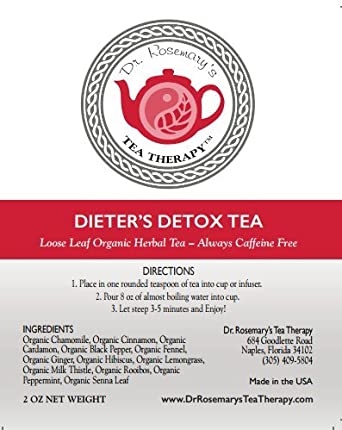 Amazon.com : Dieters Detox Tea - Cleanse Toxins from Fat Cells & Reduce  Bloating While Losing Weight - Boost Metabolism - Appetite Suppressant-  Organic CAFFEINE FREE Loose Herbal Tea Blend - Gluten