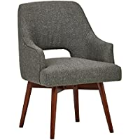 Rivet Mid-Century Open Back Swivel Chair, 24 W, Marble