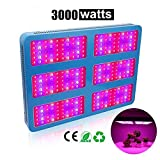 Derlights 3000W Double Chips LED Grow Light Full Specturm Grow Lamp for Greenhouse Hydroponic Indoor Plants Veg and Flower For Sale