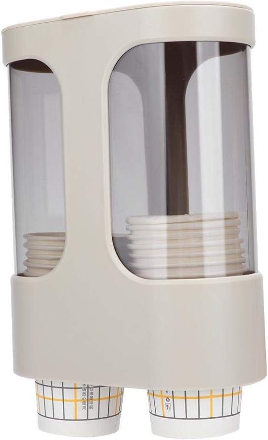 Fditt Portavasos de pl/ástico Soporte de Pared Dispensador de Vasos de Papel para dispensador de Agua Organizador de Vasos Desechables Estante Restaurante Hotel Oficina Uso del ba/ño