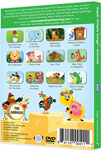 Amazon.com: Super Simple Songs - Animals DVD: Movies & TV