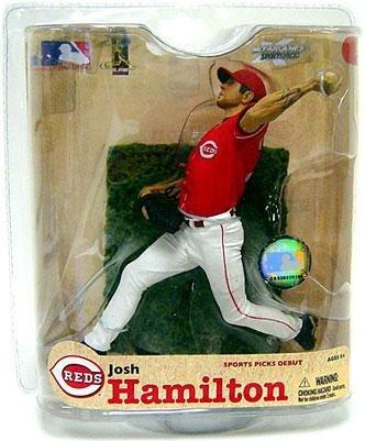 775d636e8c Amazon.com: McFarlane Toys MLB Series 21: Josh Hamilton Cincinnati Reds:  Toys & Games