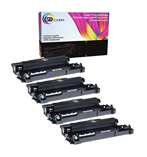 SD Toners 4PK Replacement Brother DR-420 Black Drum Unit Compatible Cartridge High Yield Use for TN450 TN420 Printer HL-2240d HL-2270dw HL-2280dw MFC-7360n MFC-7860dw DR420 4 Drum Unit