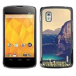EJOY---Cubierta de la caja de protección la piel dura para el / LG Nexus 4 E960 / --Gran Acantilado Lago