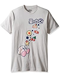 Men's Kirby Eating Lots Candy, Cake, and Food Short Sleeve T-Shirt