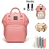 Diaper Bag Multi-Function Waterproof Travel Backpack Diaper Bags for Baby Care, Large Capacity, Wide Open, Stylish and Durable (Orange)