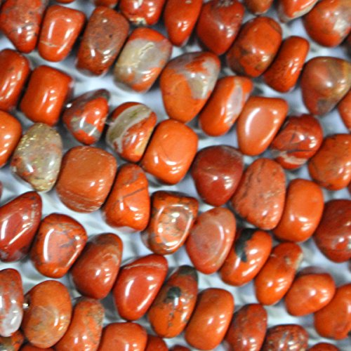 Natural Gemstone Nuggets Free Size 8-9mm Jewelry Making Loose Beads (Red Jasper) ()