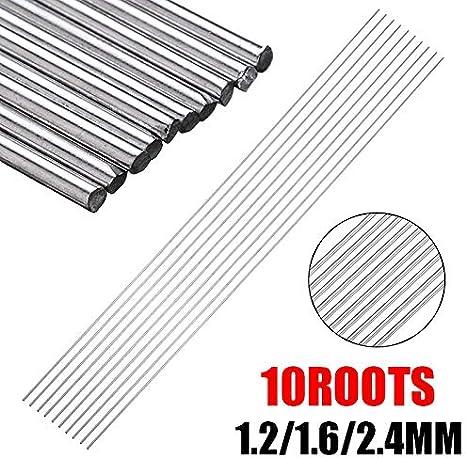 tama/ño : 1.2mm NO LOGO 10pcs 1.2//1.6mm 330mm Acero Inoxidable Suministros Varilla de Soldadura Electrodos Soldadura TIG Varillas de aporte de Soldadura for soldar