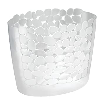 Decorative Wastebasket 3 Gallon United Solutions Damask Bathroom Trash Can