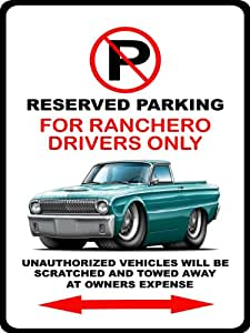 1962–63Ford Ranchero Classic car-toon no parking sign