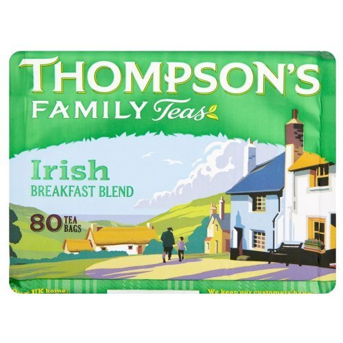 Thompson's Family Teas, Irish Breakfast, 80 BG (Pack of 8) ()