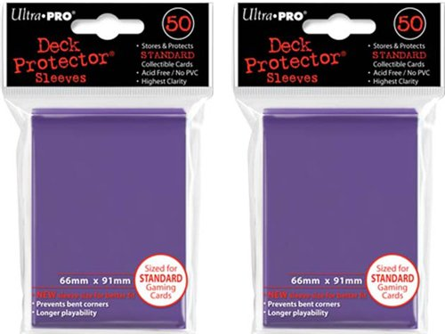 (100x) Ultra PRO Purple Deck Protectors Sleeves Standard MTG Colors