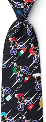 Tour De France Black Polyester Tie