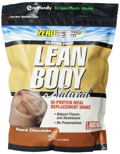 Nutrición labrada Lean cuerpo Hola comida reemplazo el batido de proteína, Chocolate Natural, 24 onzas