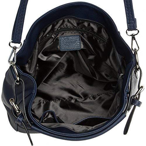 bolso De Oscuro Mujer Shopper Ts917 Para Caspar Bolso Mano Azul Hombro c1xTfwUq