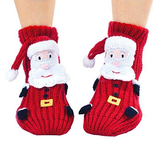 Cute Christmas Stockings - Christmas Socks, Coxeer Lovely Cartoon Cute Woolen Stockings Xmas Santa Socks
