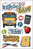 Paper House Productions STDM-0030E 3D Cardstock Stickers, School Days (3-Pack)