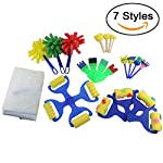 Ogrmar 7 Styles Mini Painting Foam Sponge Brush Kids Painting Tools Early DIY Learning/ Kids Painting Learning by Ogrmar
